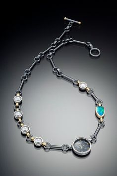 """Night Clouds w/ Pearls & Opal by RM Studio Jewelry 
