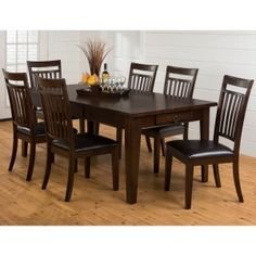 7 Pieces Dining Table Sets on Hayneedle - 7 Pieces Dining Table Sets For Sale