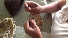 Gorro de trenza de crochet