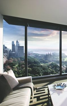 Luxury urban living room with great view ~ Colette Interior Exterior, Exterior Design, Room Interior, Modern Interior, Luxury Apartments, Luxury Homes, Luxury Penthouse, Home Theaters, Design Living Room