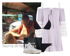 """""""Beach trip with Niall"""" by onedirectionlover1432 ❤ liked on Polyvore featuring Melissa Odabash, Venus and Converse"""