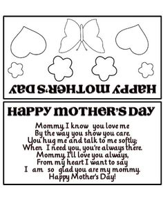 MOTHER'S DAY foldable card + poem