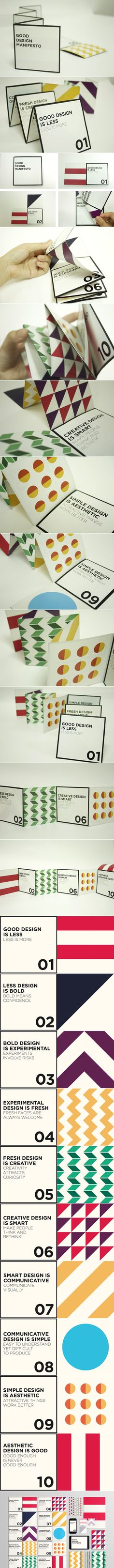 Good Design Manifesto - fold out #booklet or #brochure design