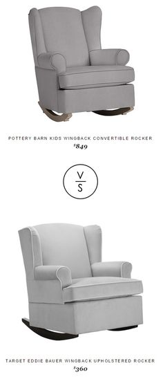 @/potterybarnkids Wingback Convertible Rocker $849 Vs Target Eddie Bauer Wingback Upholstered Rocker $360