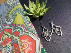 Java Earrings in White Bronze « SilverBotanica – Handmade Jewelry designed by Alicia Hanson and Hi Octane Industries Inc.