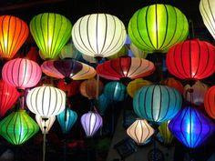 Vietnam-Reispapier-Lampions - Vietnam,lampen,lampions,reispapier