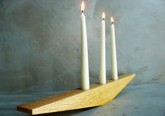 Advent-style candle holder by RenovatioImperii on Etsy