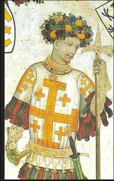 Godfrey of Bouillon, a French knight, leader of the First Crusade and founder of the Kingdom of Jerusalem.
