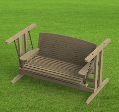 Free Standing Porch Swing Woodworking Plans - Easy To Build - Digital Plans Only