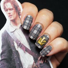"I was SO totally kidding when I searched for ""Outlander Nails""...but THEY ARE REAL."