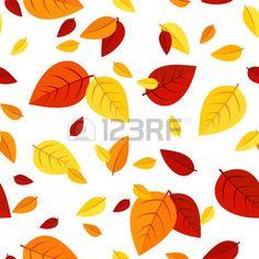 herbst blätter: Nahtlose Muster mit bunten Blätter im Herbst Vektor-Illustration…