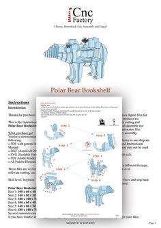 OSO POLAR oso de biblioteca archivo de plantilla de por CncFactory