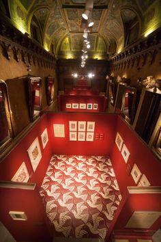 La exposición Escher en el palacio de Gaviria, Madrid, desde este jueves hasta el 25 de junio 2017 organizada por la empresa italiana Arthemisia