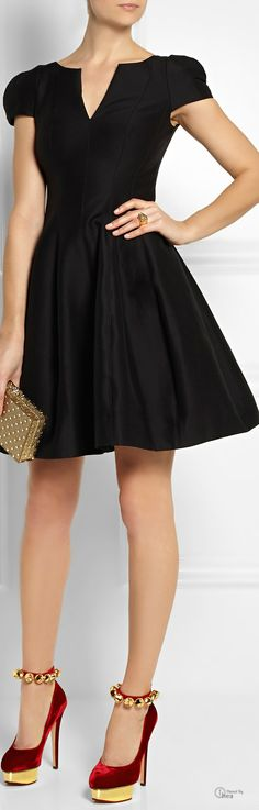 Halston Heritage dress ●  Charlotte Olympia Shoes. Wonder what happens when you click those jingle heels together three times?.