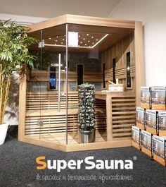 Moderne combi sauna traditioneel + finse Cabine Sauna, Infrarot Sauna, Pergola, Outdoor Structures, Modern, Room, Design, Spa, Medical