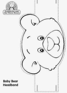 Tales with crowns - Top Win Space Teddy Bear Crafts, Teddy Bear Day, Animal Crafts For Kids, Animal Projects, Kindergarten Activities, Preschool Activities, Farm Animal Coloring Pages, Headband Crafts, Goldilocks And The Three Bears