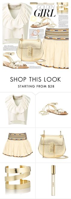 """""""summer sandals//pleated skirt"""" by shoalehnia ❤ liked on Polyvore featuring Chloé, Murphy, Chase & Chloe, Isabel Marant and Étoile Isabel Marant"""
