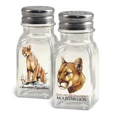 American Expedition Mountain Lion Salt and Pepper Shakers