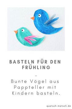 Basteln mit kindern Tinker birds out of paper plate Natural Parenting, Kids And Parenting, Holiday Crafts For Kids, Diy And Crafts, Paper Plates, About Me Blog, Birds, Make It Yourself, Projects