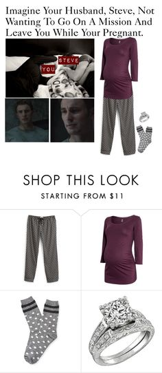 """""""Imagine Your Husband, Steve, Not Wanting To Go On A Mission And Leave You While Your Pregnant."""" by alyssaclair-winchester ❤ liked on Polyvore featuring Vera Bradley, H&M, Aéropostale, imagine, Avengers, marvel, CaptainAmerica and steverogers"""