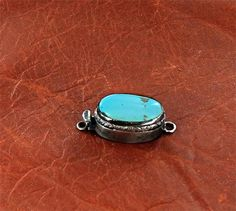 SLEEING BEAUTY TURQUOISE Sterling clasp Large 22x12mm