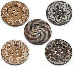 Bottle Caps, Beads and More (Tm) 10PCs 6cm(2 3/8') Mixed Pattern 4 Holes Large Wood Sewing Buttons for Sweater Overcoat Clothing >>> You can get additional details at the image link.
