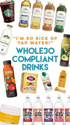 Let's talk about compliant drinks. The thought of not having my daily Diet Coke or my morning coffee pumped full of overpriced milk and sugar freaked me. Read More Compliant Drinks: You Can Have More Than Just Tap Water - compliant drinks Whole 30 Drinks, Whole 30 Snacks, Whole 30 Recipes, Whole 30 Smoothies, Whole 30 Dessert, Whole 30 Breakfast, Paleo Breakfast, Breakfast Ideas, Whole 30 Meal Plan