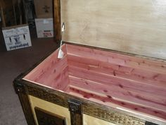 Interior view of the blanket chest for Christina
