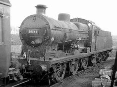 Southern Railway Class Q No. 30543 with standard single chimney in British Railways unlined black livery at Redhill shed. Severn Valley, Southern Trains, Steam Railway, Southern Railways, British Rail, Uk Photos, Rolling Stock, Steam Engine, Steam Locomotive