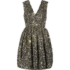 Folded-sequin silk-organza dress I have always wanted a sequin dress Organza Dress, Silk Organza, Sequin Dress, Glitter Dress, Pleated Dresses, Sparkles Glitter, Gold Sequins, Embellished Dress, Look Fashion