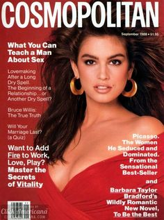 Cindy Crawford on the cover of Cosmopolitan (September 1988)
