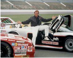 Rick Hendrick with NASCAR and Corvette GTP cars. Photo by Hendrick Motorsports