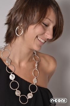 Silver handmade chain and earrings, more on www.titonegri.it