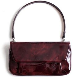 Maroon patent leather clutch / ShopStyle(ショップスタイル):