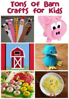 FARMER'S DAY is October 12th! - Here's a ton of Barn Crafts & Recipes to do with the kids.