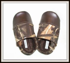 Toddler boy Camo toddler slippers toddler shoes by Tooksberry, $24.00