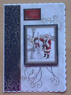 #Hunkydory #create and craft The topper and background card are from the Hunkydory 4 day deal on create and craft. I have also used a swirl die and cut swirls in silver mirri card.