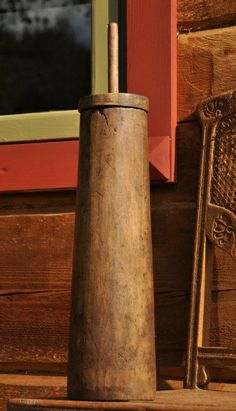 primitive home decor | 1800's Antique Carved Butter Churn. ~♥~.