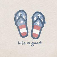 Sometimes you flip, sometimes you flop. #Lifeisgood #Optimism #July4th #FlipFlop