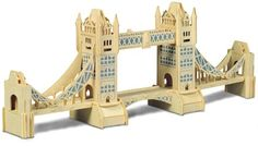 P055 Tower Bridge building Woodcraft wooden model kit
