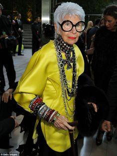 Iris Apfel... so fierce, so fashionable.