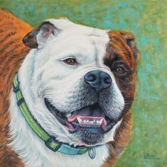 English Bulldog painting of Gypsy Rose