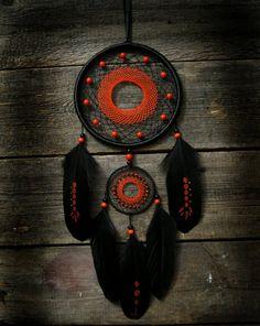 Red black dream catcher / Black dreamcatcher от MyFantasticDreams