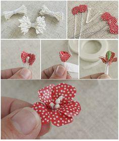 Flowers washi tape. Handmade Flowers, Diy Flowers, Fabric Flowers, Paper Flowers, Washi Tape Cards, Washi Tape Diy, Duct Tape, Masking Tape, Tape Crafts