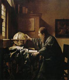 Johannes Vermeer, The Astronomer (L'Astronome), 1668. Oil on canvas, 51 x 45 cm - Paris, Musée du Louvre.