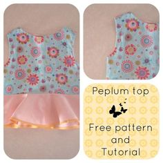 free sewing patterns online, free sewing patterns for kids, free sewing patterns for tops, how to make a peplum top, peplum top for girls, g...