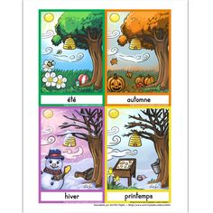 Amelie Pepin, Calendar Themes, French For Beginners, Weather Seasons, Starting School, French Immersion, Teaching French, Four Seasons, Mouille