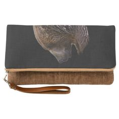 American Brown Grizzly Bear Animal Nature Wildlife Clutch - accessories accessory gift idea stylish unique custom