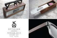 """Officer frame from Superdry. (Winner of the Optician Awards' 2012 """"Frame of the Year″!)"""