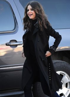 This beautiful black on black on black outfit. | 22 Times Selena Gomez Totally Killed It In 2014